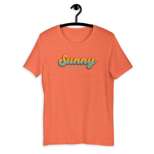 T-Shirt Short-Sleeve Unisex HEATHER ORANGE Sunny & Clear retro