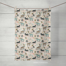 Load image into Gallery viewer, Moose Tea Towel, Kitchen Towel, Single, Linen Cotton