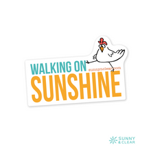 Load image into Gallery viewer, Sticker - Walking On Sunshine, Marching Chicken, Sunny & Clear