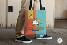Load image into Gallery viewer, Tote bag with Chicken, Good Day Sunshine, Sunny & Clear by Teresa Magnuson