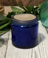 deodorant in a blue jar