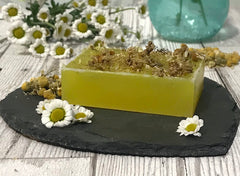 soap on a slab with flowers