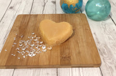 Shower jelly on a wooden board