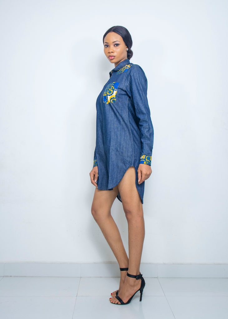 Pepperfruit Ekoly Denim Shirt Dress