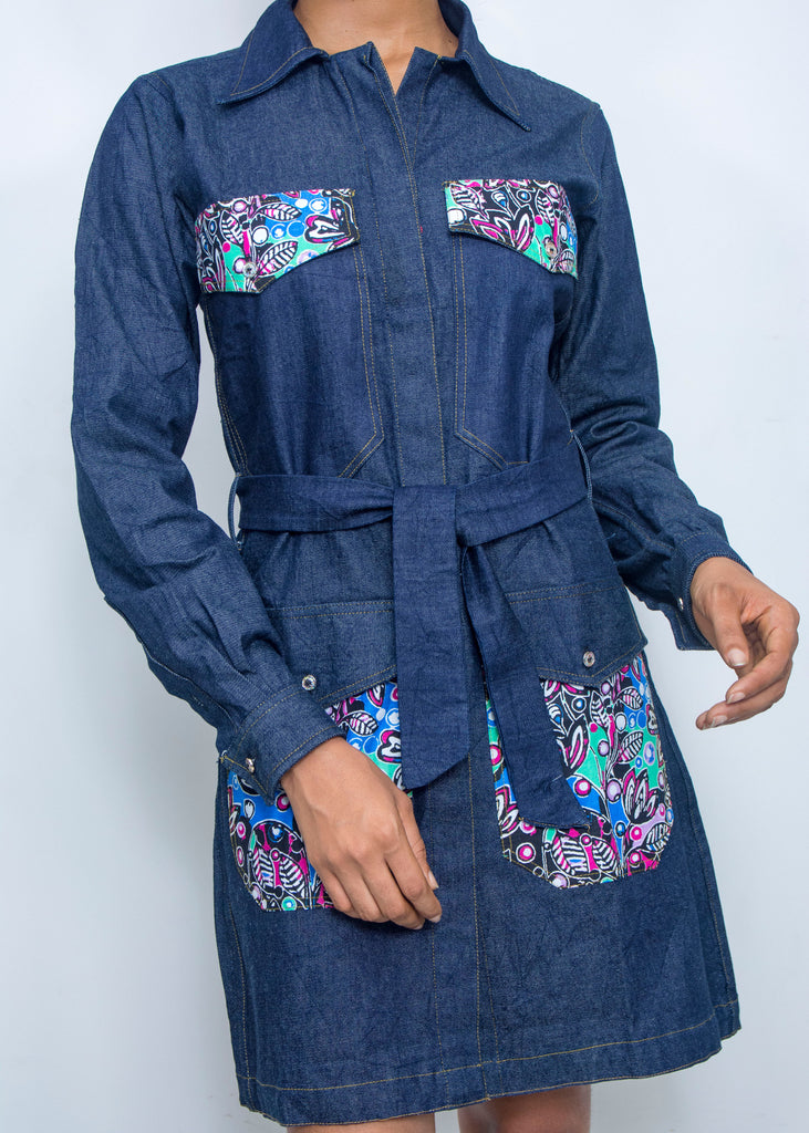 Pepperfruit Eko Denim Shirt Dress