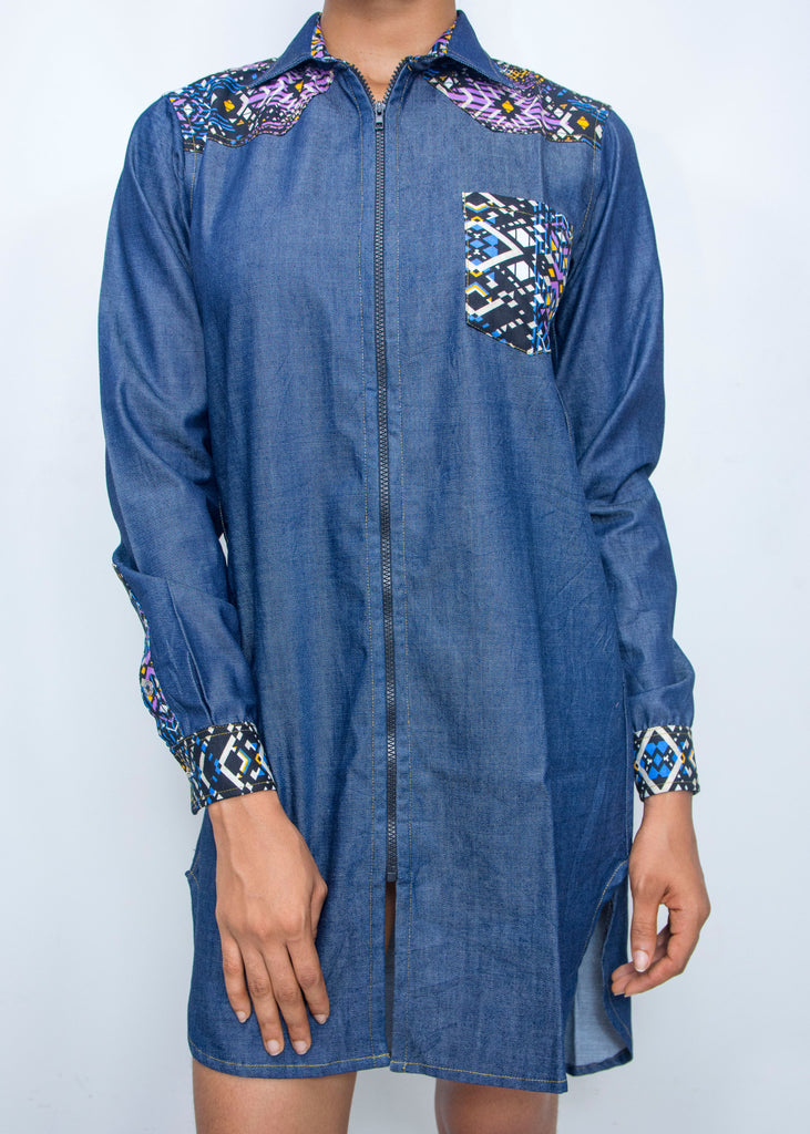 Pepperfruit Ekomo Denim Shirt Dress