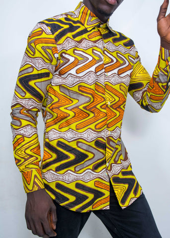 Pepperfruit Abuja Print Cotton Shirt