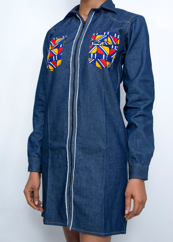 Pepperfruit Ekiyo Denim Shirt Dress