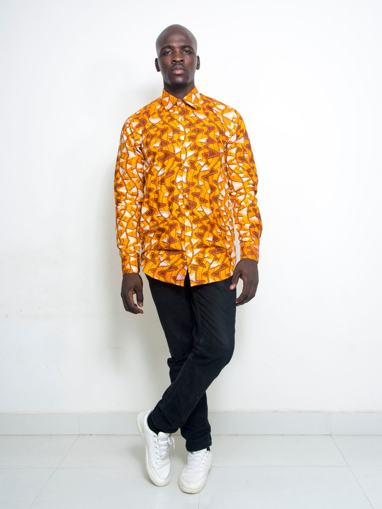 Pepperfruit Abuja VI Print Cotton Shirt