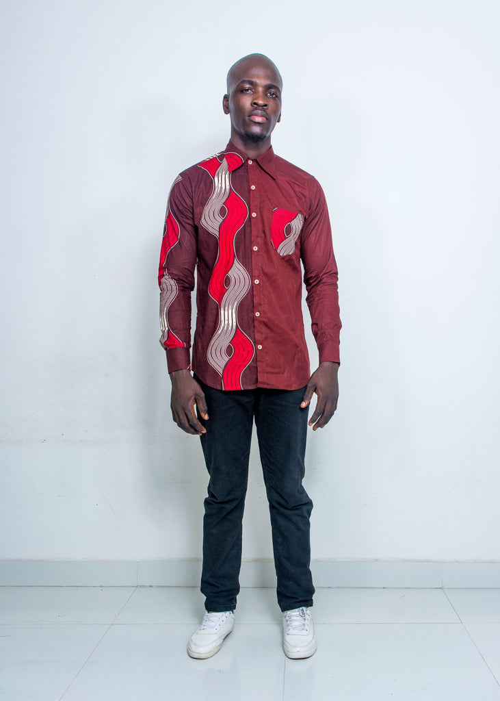 Pepperfruit Accra Plain And Pattern Shirt