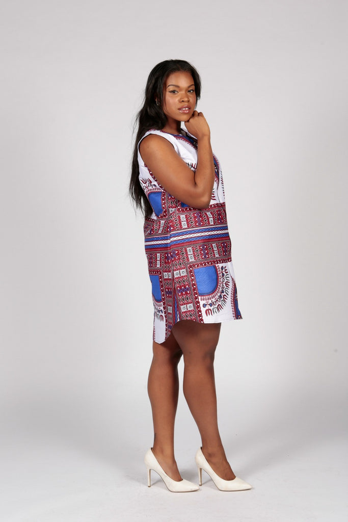 Pepperfruit  Blue Dashiki Shirt Dress