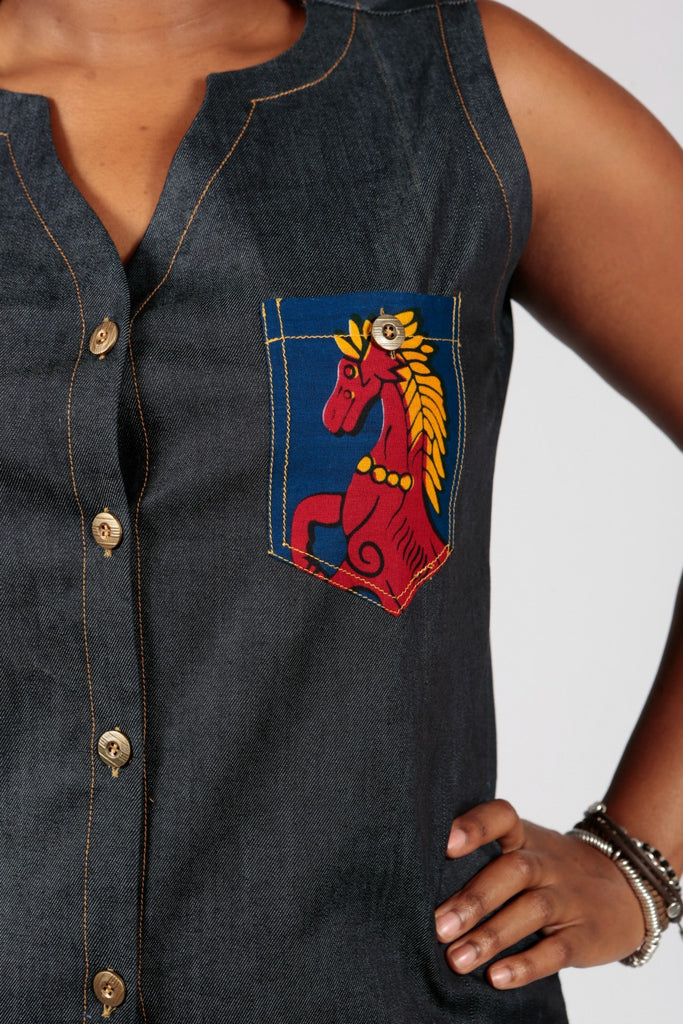 Pepperfruit  Ivy Denim Shirt Dress