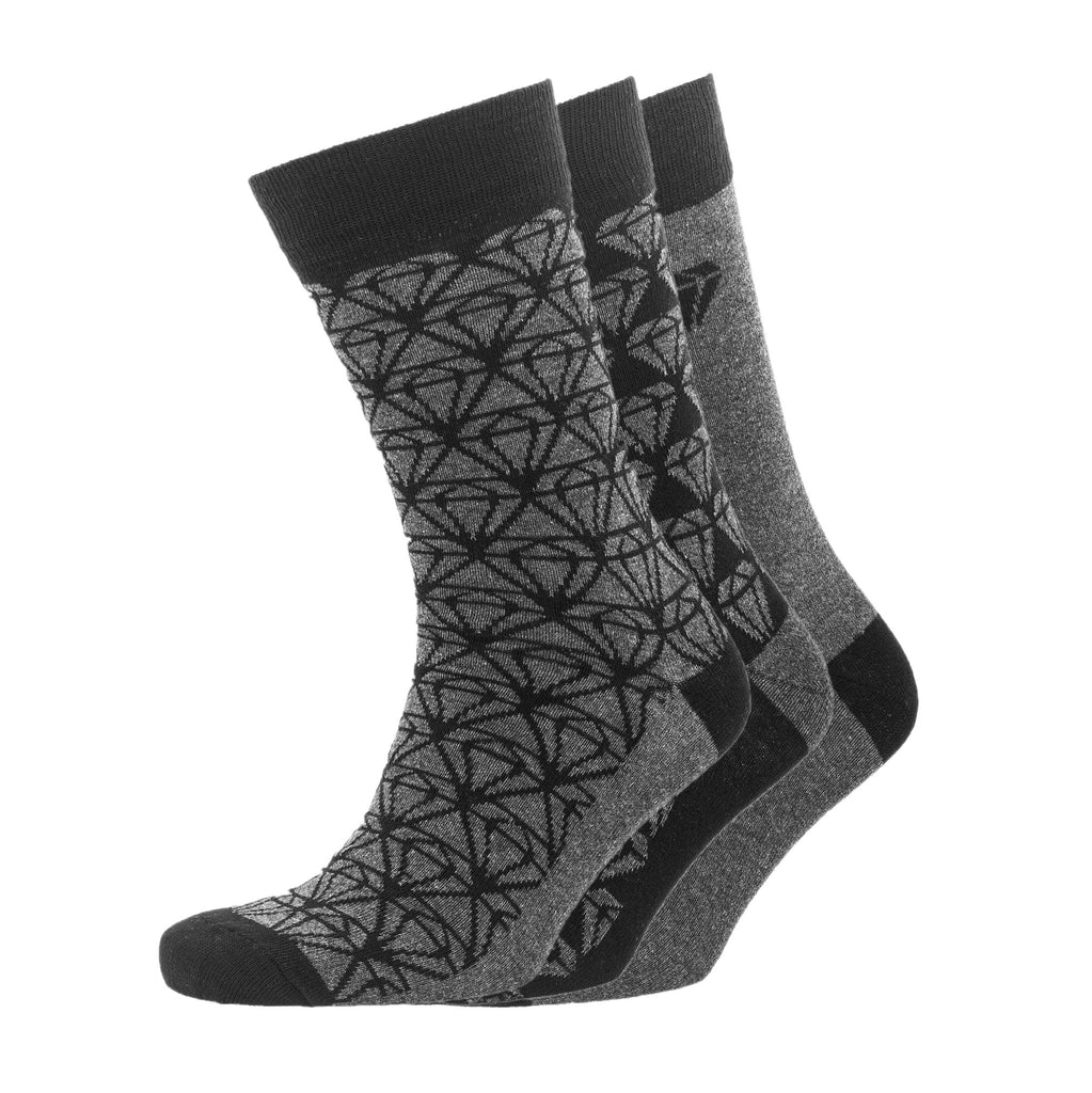 Cluster Gift Box Socks 3pk - Black/ Charcoal Marl