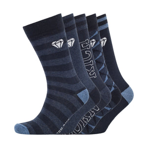 Covalent Socks 5pk - Night Sky