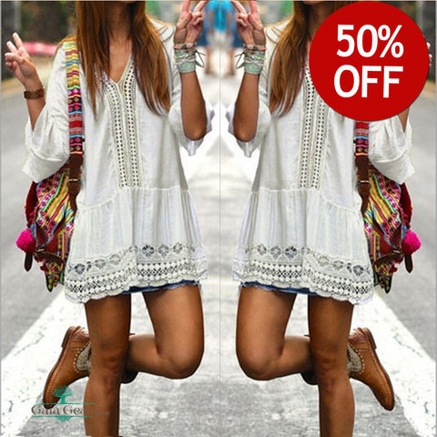 50% Off - New!!! Victoria Bohemian White Dress You Will Love!!!