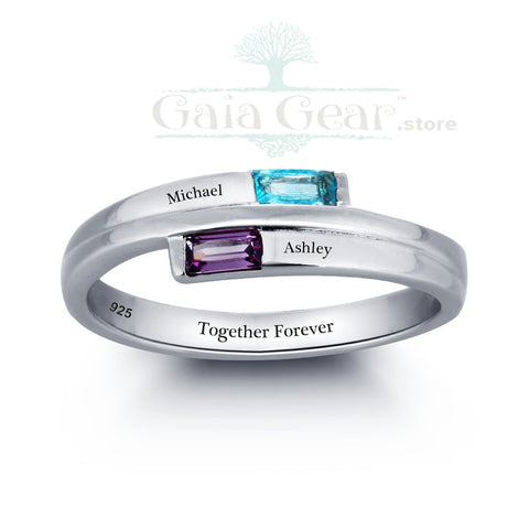 Customized and Pesonalized Square Couple Ring-50% OFF!!