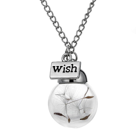 Make A Wish Glass Bottle Necklace