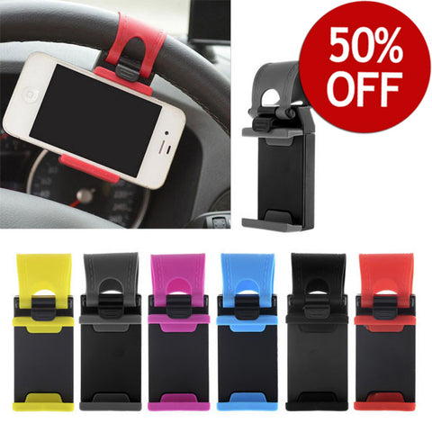 50% OFF - New!! Cool steering wheel smartphone mount