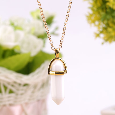 Crystal prism pendant necklace gold gaia gear crystal prism pendant necklace gold aloadofball Images