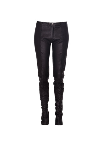 Flaster Leather Leggings
