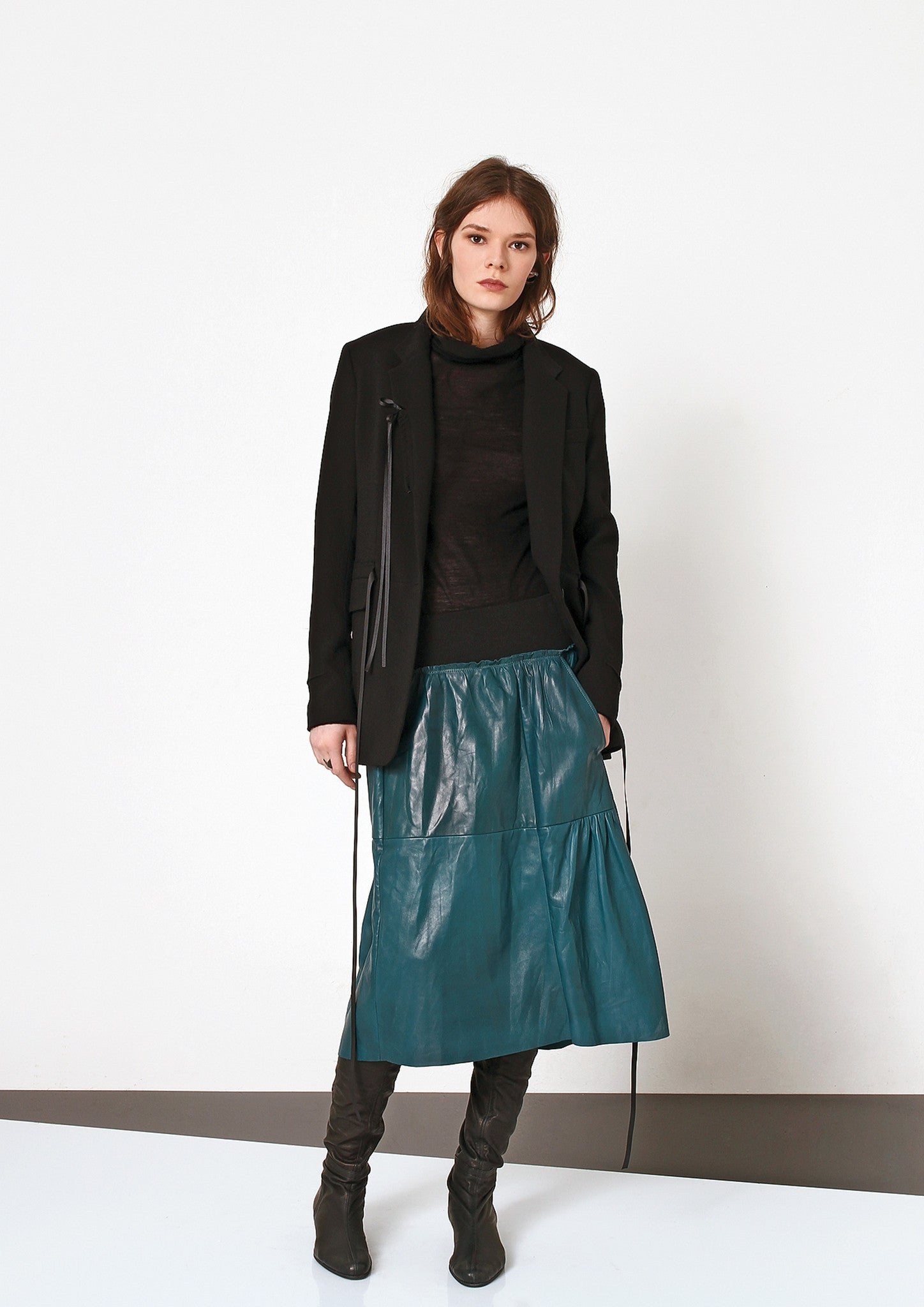 Meza Leather Skirt