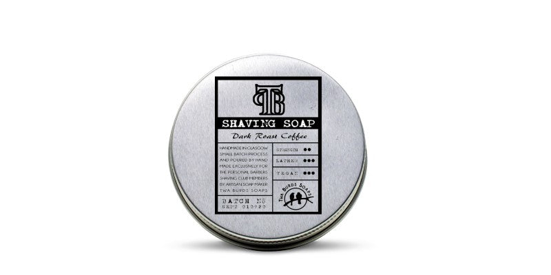 shaving soap tin coffee sccented the personal barber