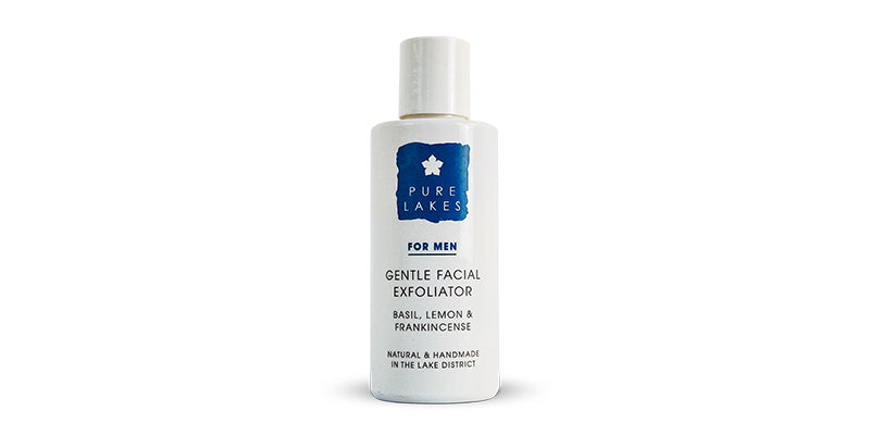 Pure Lakes Gentle Exfoliant For Men on white background