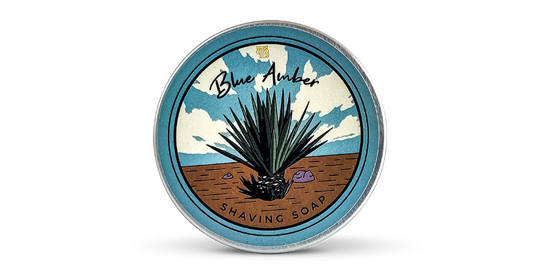 The Personal Barber Blue Amber Shaving Soap on white background