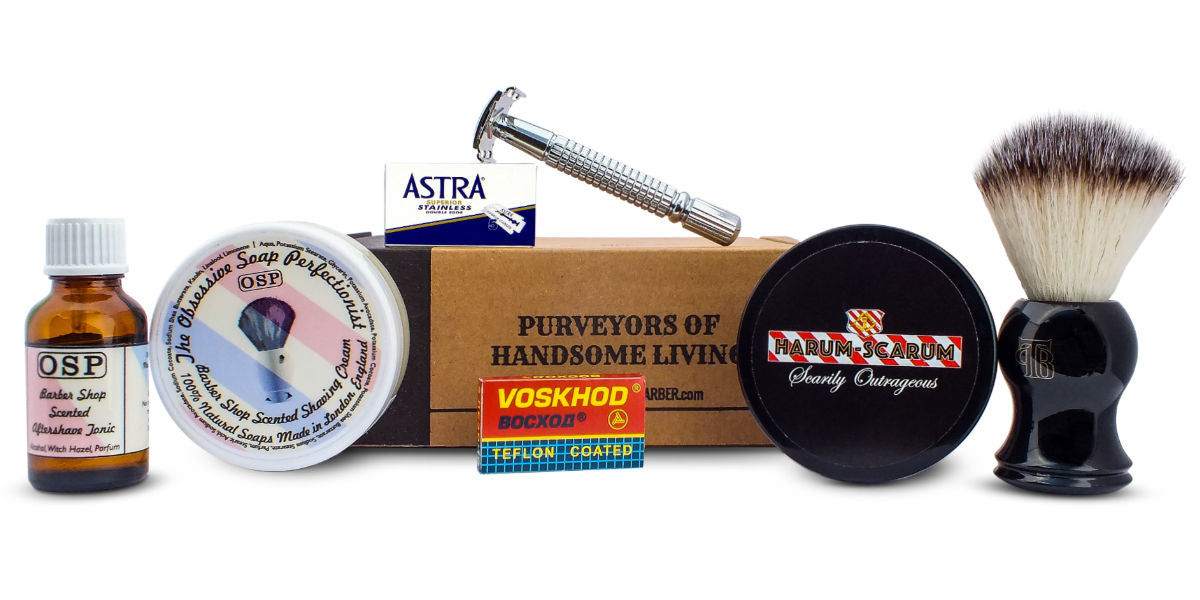 classic wet shaving kit from the personal barber subscription june 17