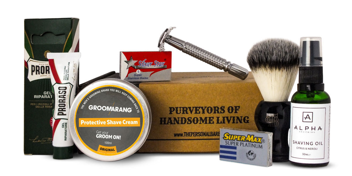 The Personal Barber wet shaving kit May 2017