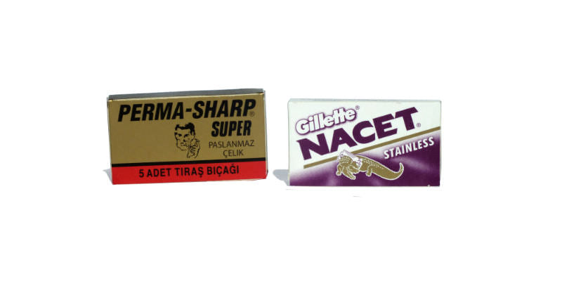 Gillette Nacet and Perma-Sharp Super double edge replacement blades