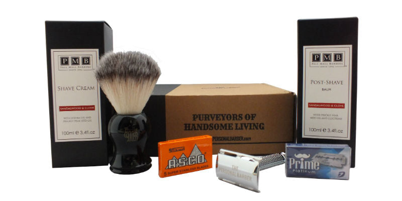 The Personal Barber December Wet Shaving Subscription Box