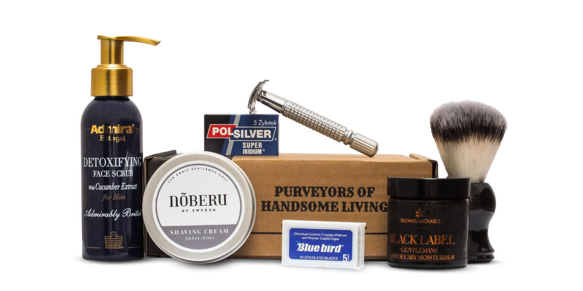 Mens uk shaving subscription box from the personal barber