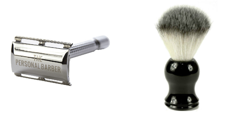 the personal barber safety razor and brush