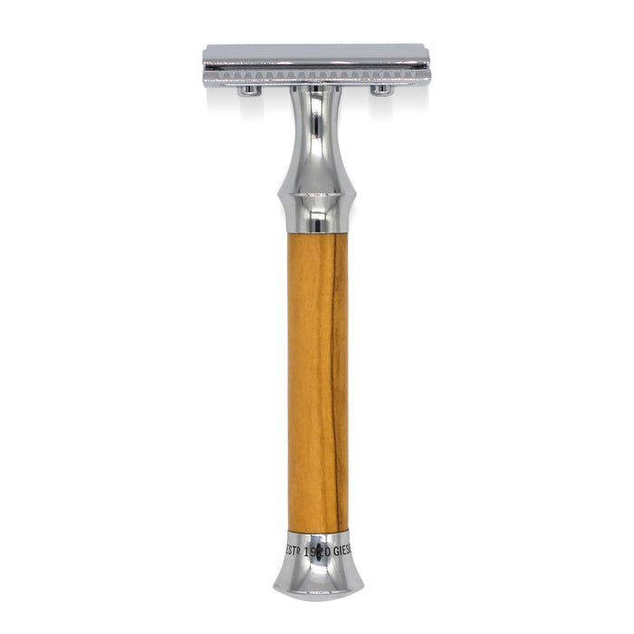 Timor Vintage Edition Olive Wood Closed Comb Safety Razor