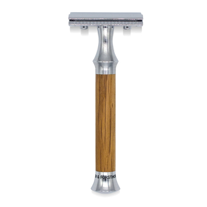 Timor Vintage Edition Oak Wood Closed Comb Safety Razor