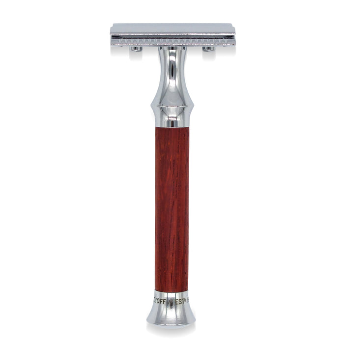 Timor Vintage Edition Padauk Wood Closed Comb Safety Razor