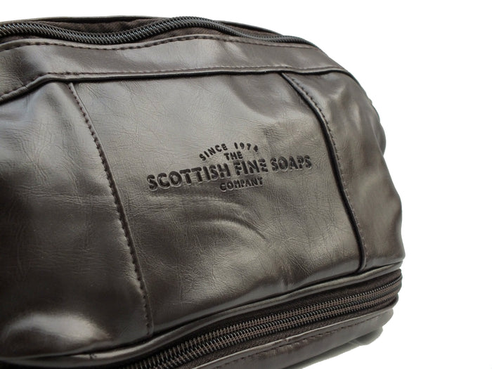 Scottish Fine Soaps Faux Leather Wash-Bag