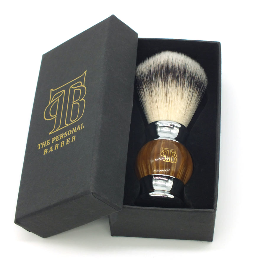The Personal Barber Resin Handle Synthetic Hair Shaving Brush