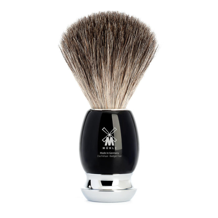 Muhle Vivo Black Resin Pure Badger Shaving Brush