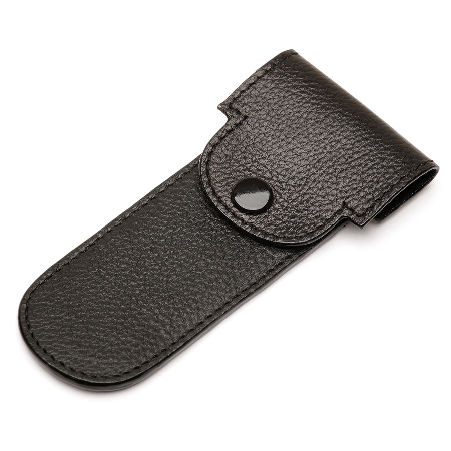 Parker Black Leather Safety Razor Case