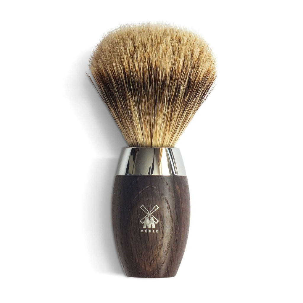 Muhle Kosmo Fine Badger Shaving Brush with Bog Oak Handle