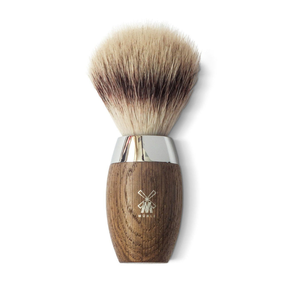 Shaving Brush - Muhle Kosmo Silvertip Fibre Shaving Brush With Bog Oak Handle
