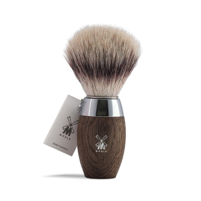 Muhle Kosmo Silvertip Fibre Shaving Brush with Bog Oak Handle