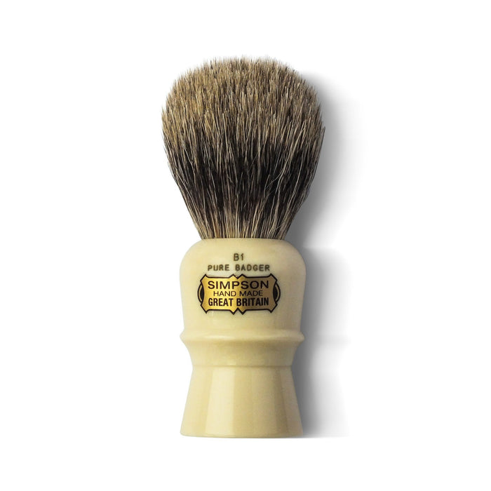 "Simpson's ""The Beaufort"" Pure Badger Shaving Brush 90mm"