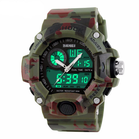S-Shock Digital Military Waterproof Watch [40% OFF] + Bonus Camo Cap