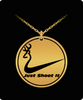 Image of Just Shoot It - Laser Engraved Pendant Necklace [Ships 2 U FREE] MADE IN USA!