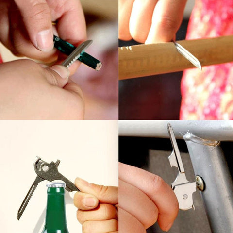 6 in 1 Keychain Survival Cutter Multifunction Tools