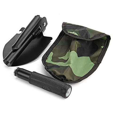 Multi-function Portable Folding Survival Spade Trowel Dibble Pick with Compass [FREE SHIPPING!]