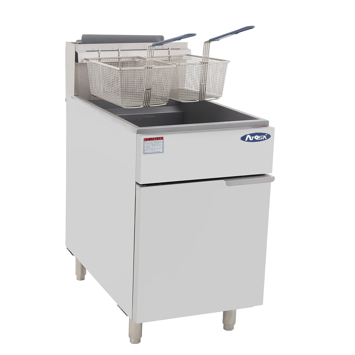 ATOSA ATFS-75 HD 75lb S/S Commercial Kitchen Natural Gas Deep Fryer